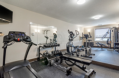 Work Out in Our Fitness Centre Hotels in fox creek Alberta